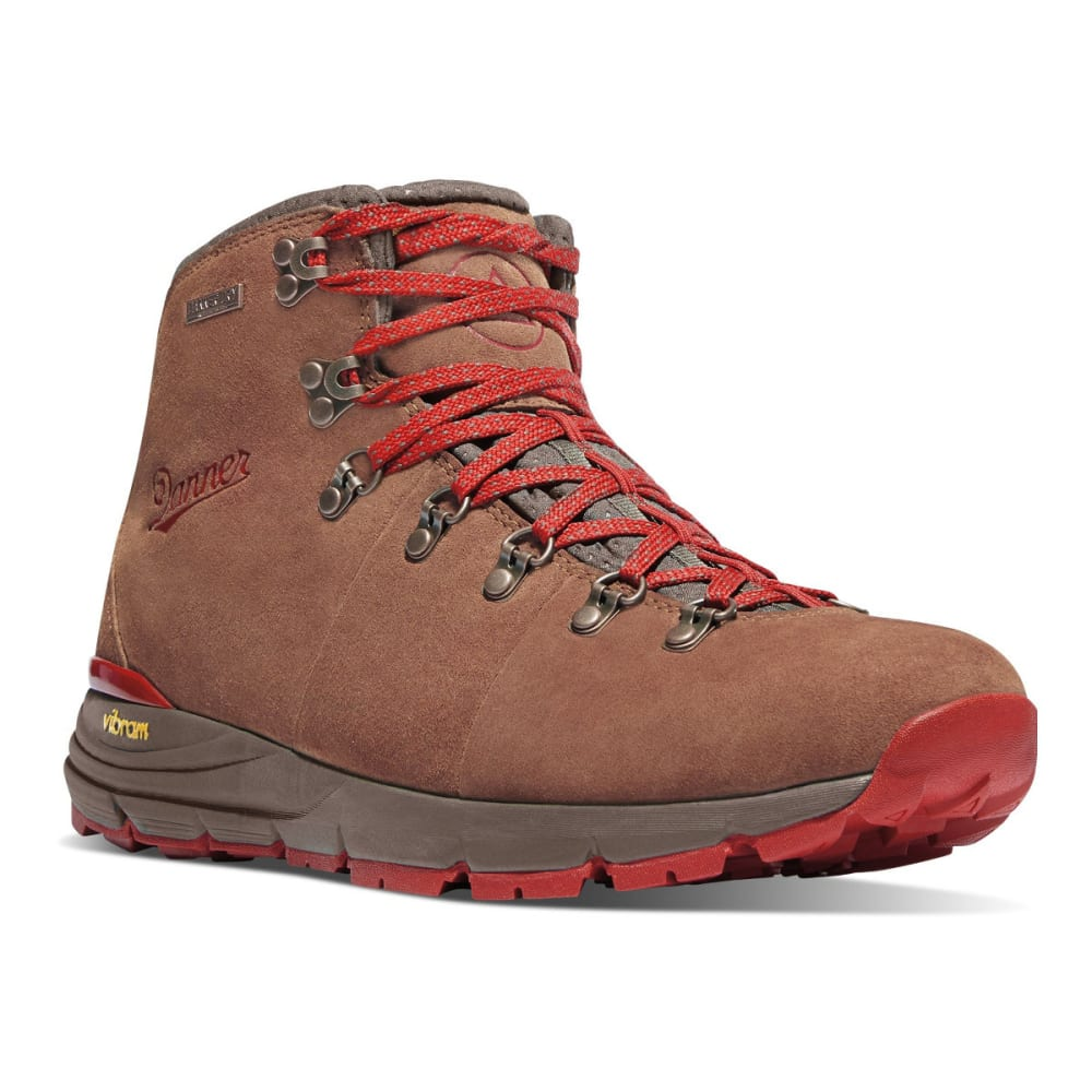 DANNER Women's Mountain 600 Waterproof Hiking Boots, Brown/Red - BROWN/RED