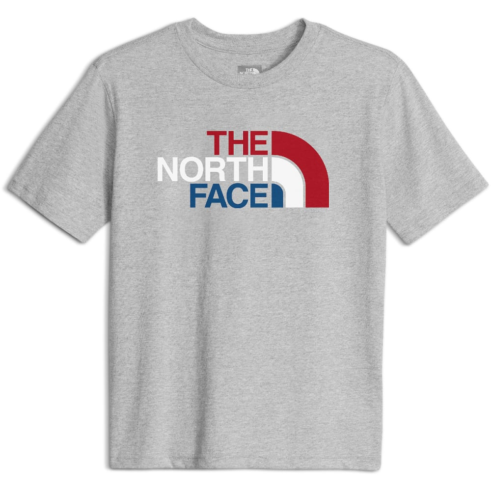 THE NORTH FACE Boys' Short-Sleeve Graphic Tee - UKD-TNF LIGHT GREY