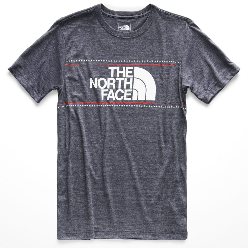 THE NORTH FACE Men's Americana Tri-Blend Short-Sleeve Tee - AVM-URBAN NAVY HTR