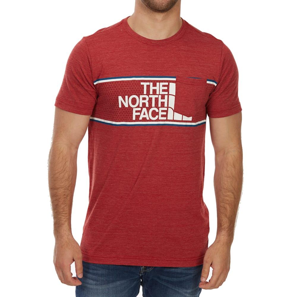 THE NORTH FACE Men's Americana Tri-Blend Pocket Short-Sleeve Tee - HJK-CARDINAL RED HTR