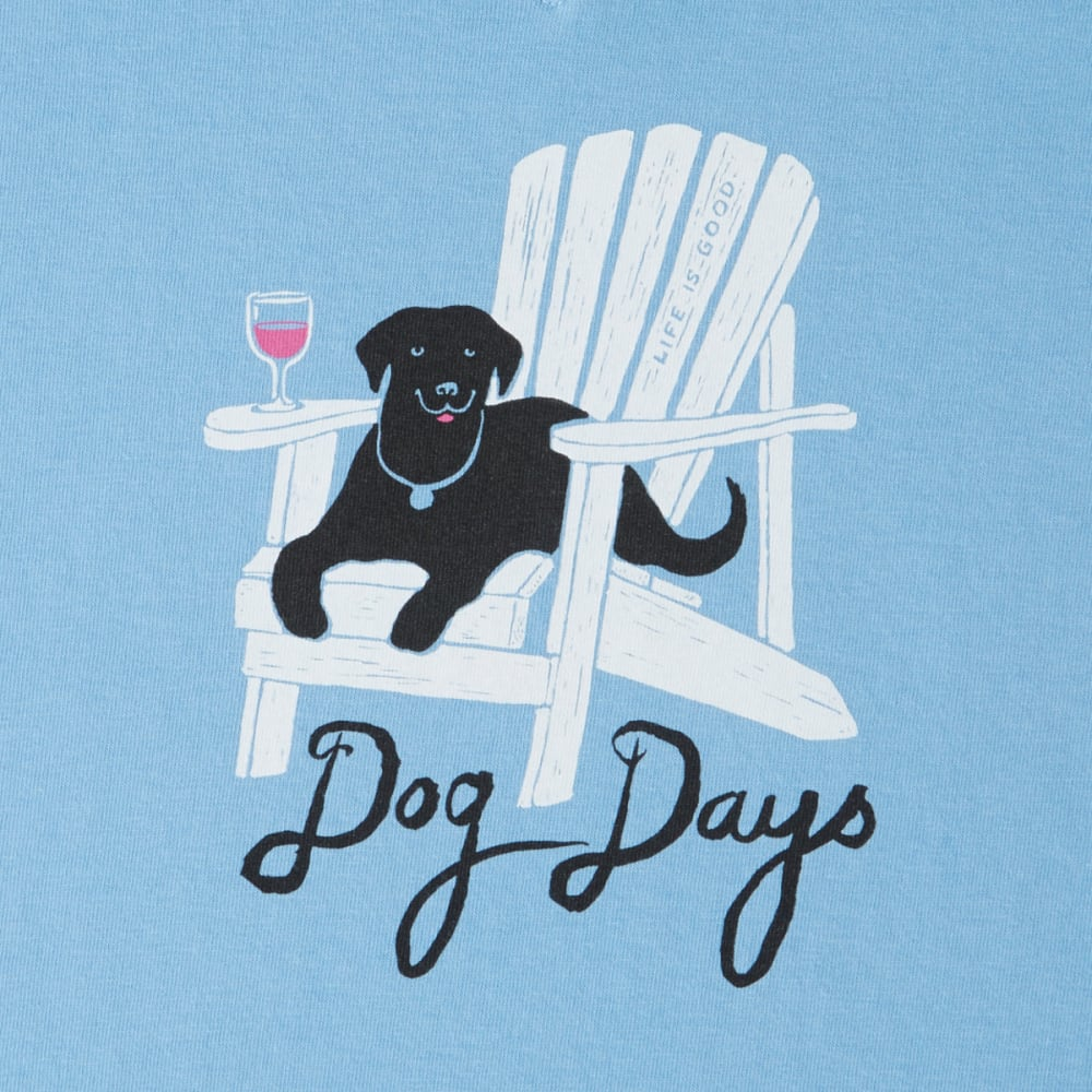 LIFE IS GOOD Women's Dog Days Crusher Vee Tee - POWDER BLUE