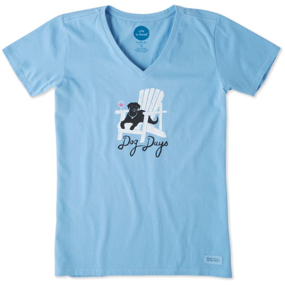 LIFE IS GOOD Women's Dog Days Crusher Vee Tee - POWDER BLUE