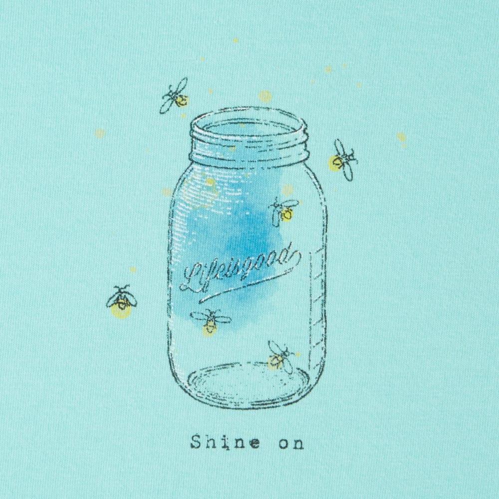 LIFE IS GOOD Women's Fireflies Shine On Crusher Vee Tee - COOL AQUA