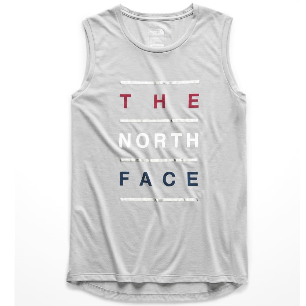 THE NORTH FACE Women's Americana Tri-Blend Track Tank Top - DYX-TNF LGT GREY HTR