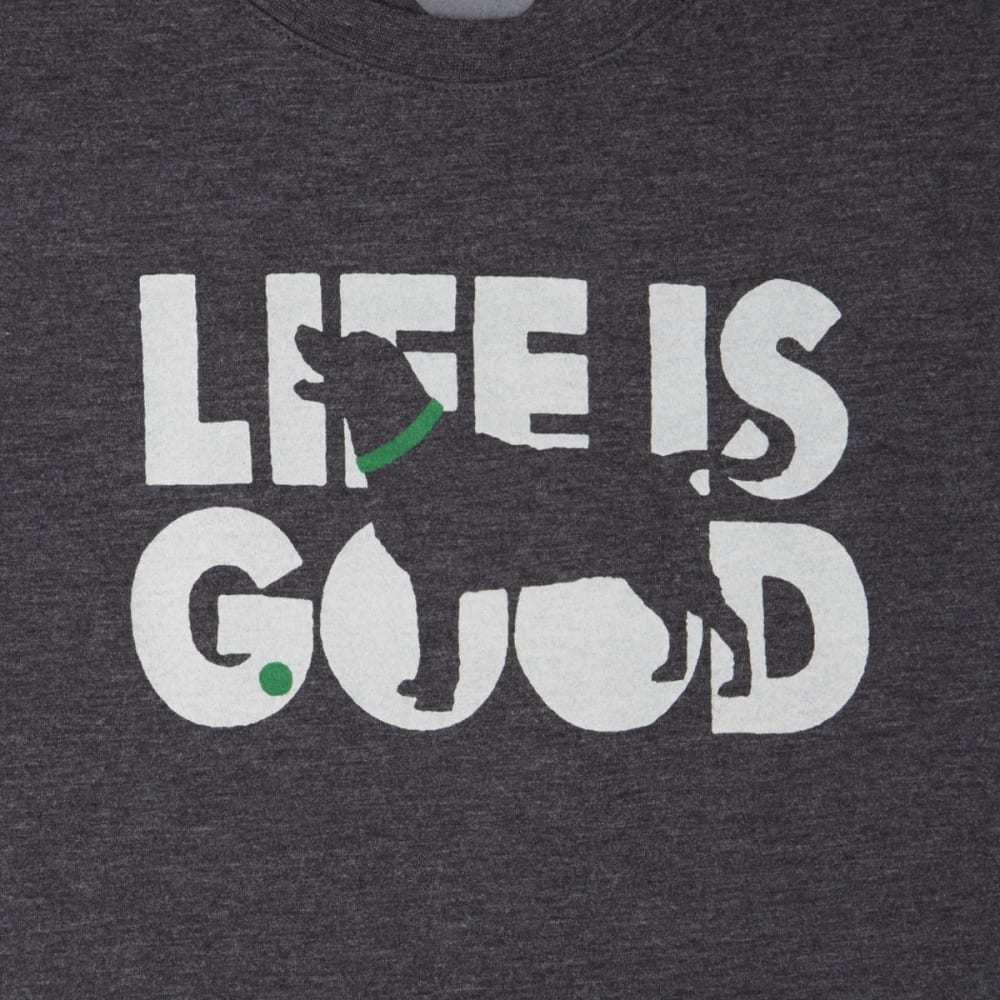 LIFE IS GOOD Men's Knockout Dog Cool Tee - NIGHT BLACK