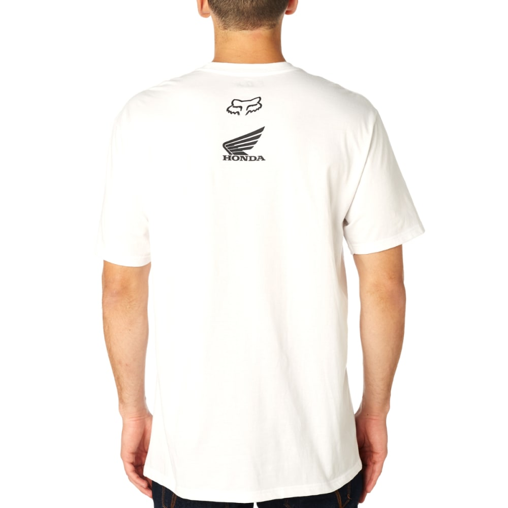 FOX RACING Guys' Honda Basic Tee - OPTIC WHT-190