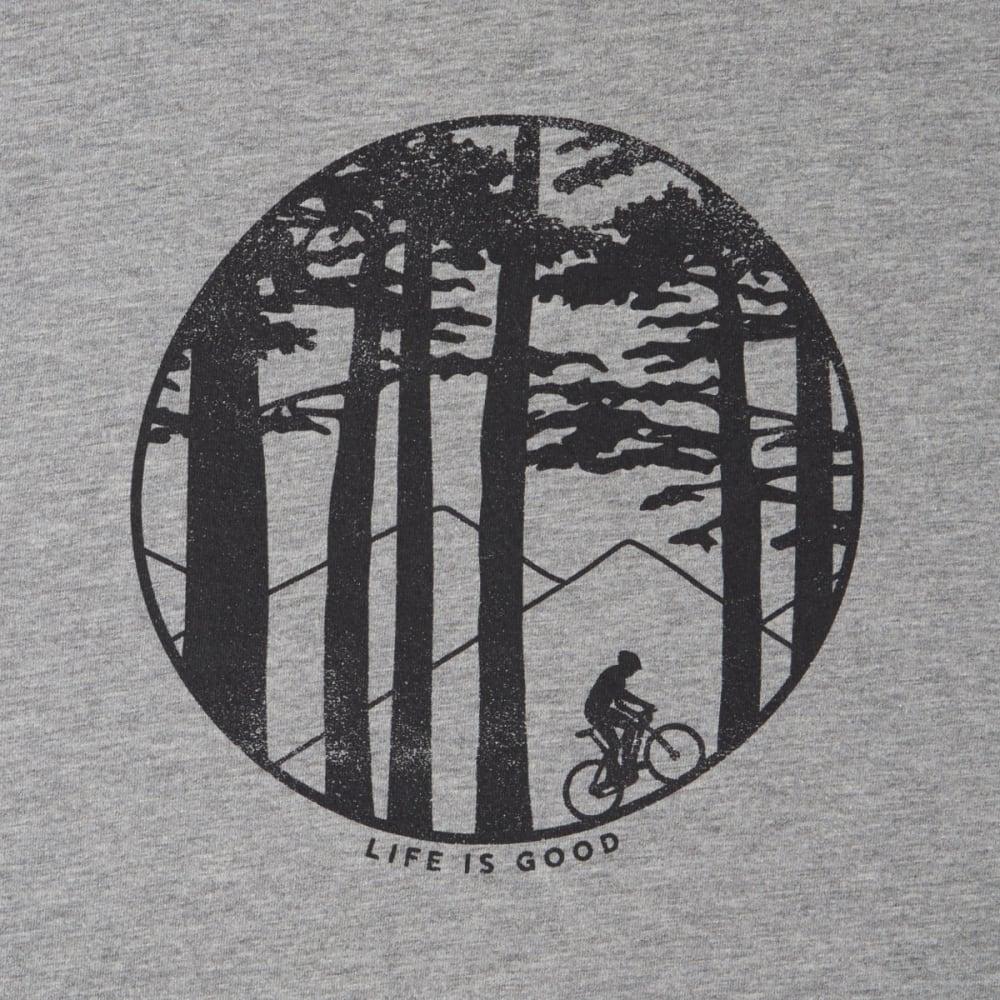 LIFE IS GOOD Men's Mountain Bike Woods Crusher Tee - GREY