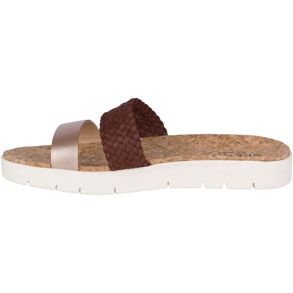 SPERRY Women's Sunkiss Pearl Slide Sandals - BRN/GOLD-STS81582