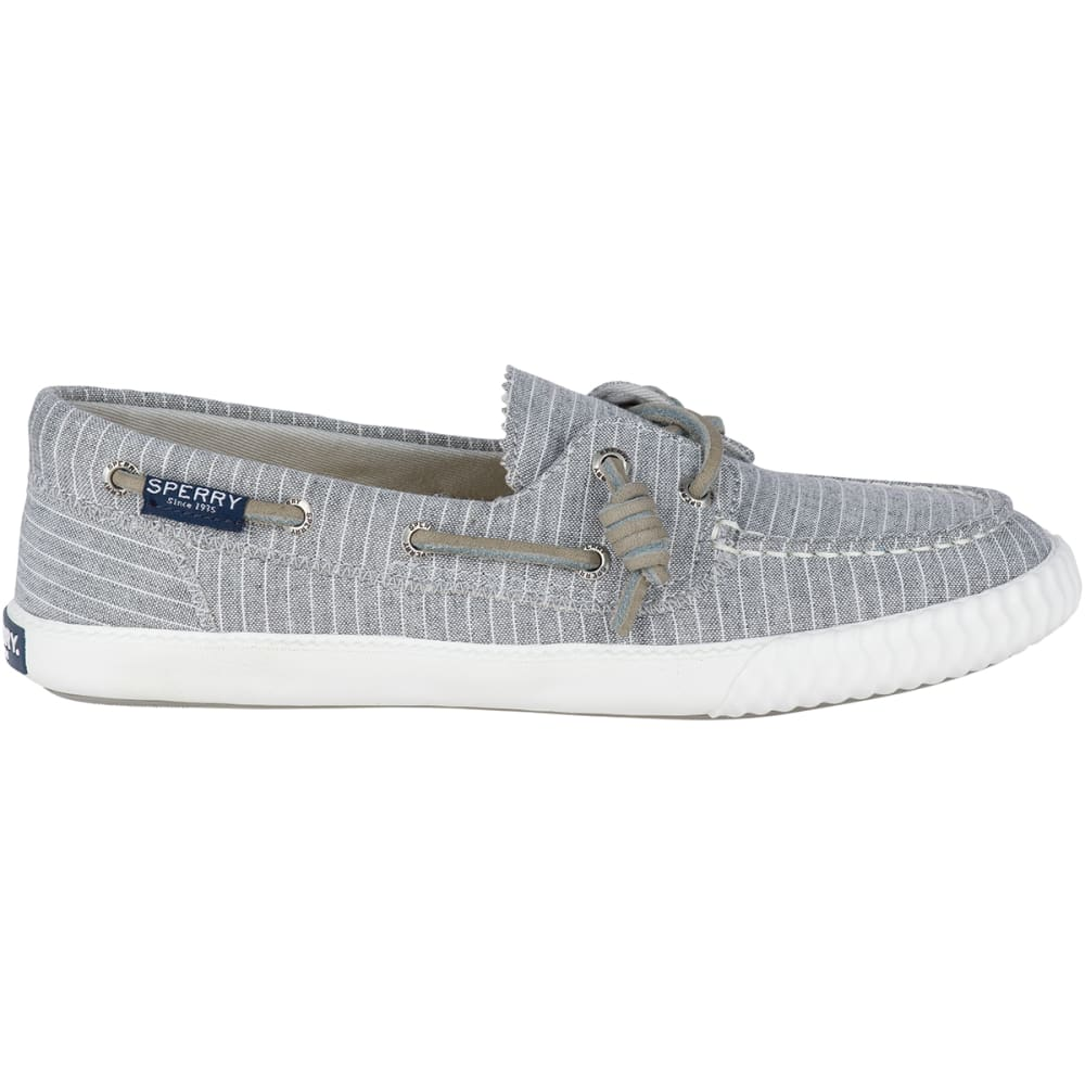 SPERRY Women's Sayel Away Pinstripe Boat Shoe Sneakers - GREY/WHITE