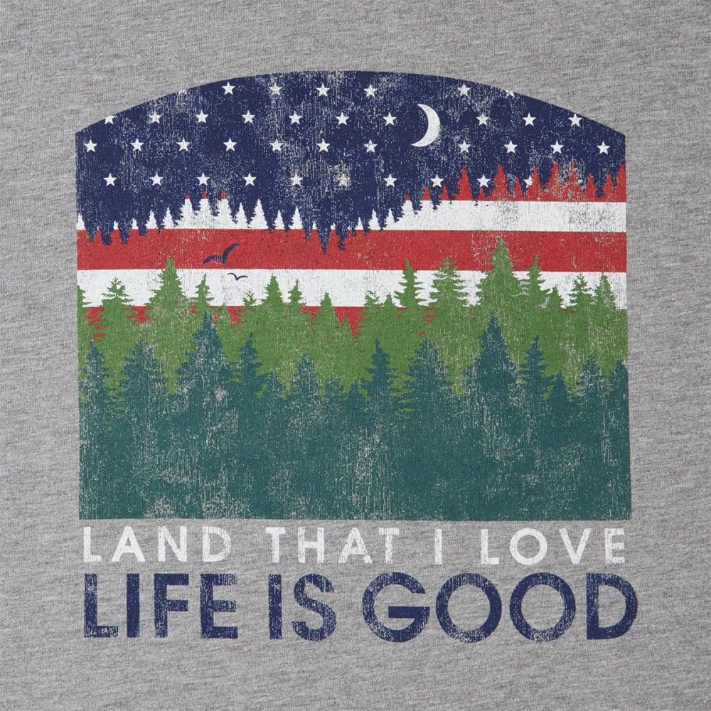 LIFE IS GOOD Men's Land That I Love Crusher Tee - GREY