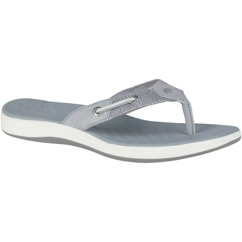 SPERRY Women's Seabrook Surf Two-Tone Flip Flops - GREY