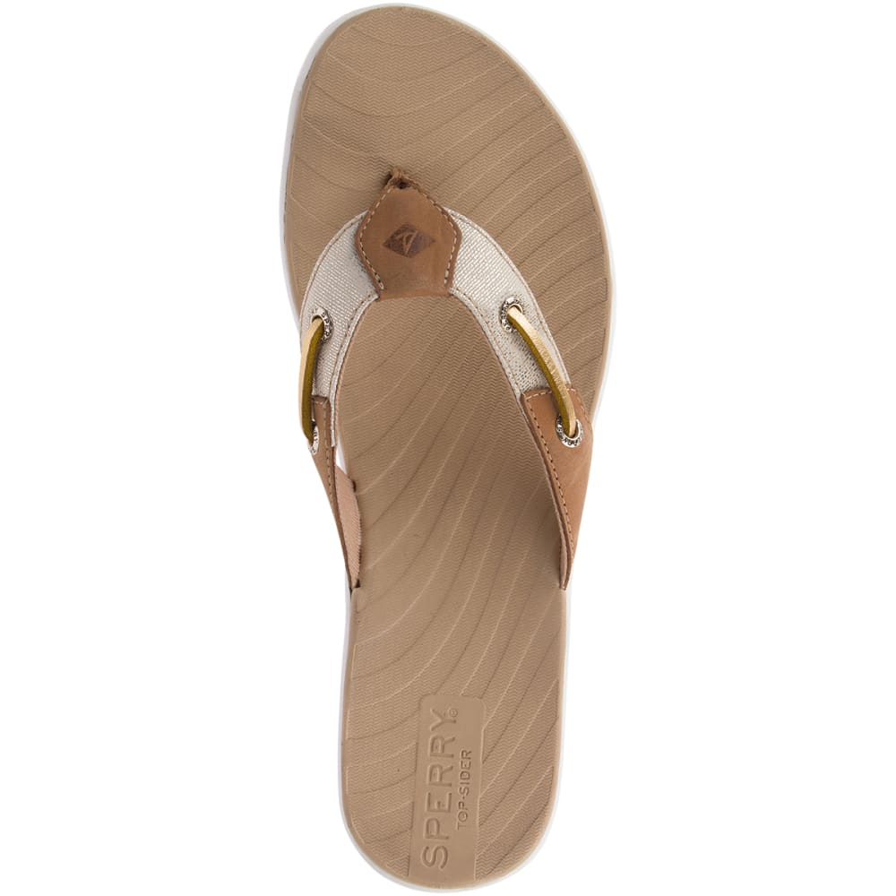 SPERRY Women's Seabrooke Surf Metallic Flip Flop - TAN