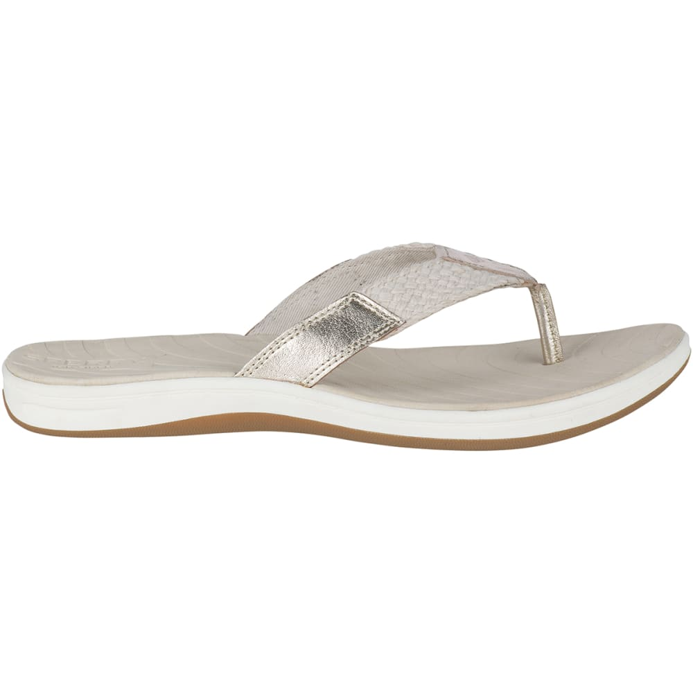 SPERRY Women's Seabrook Swell Flip Flops - PLATINUM