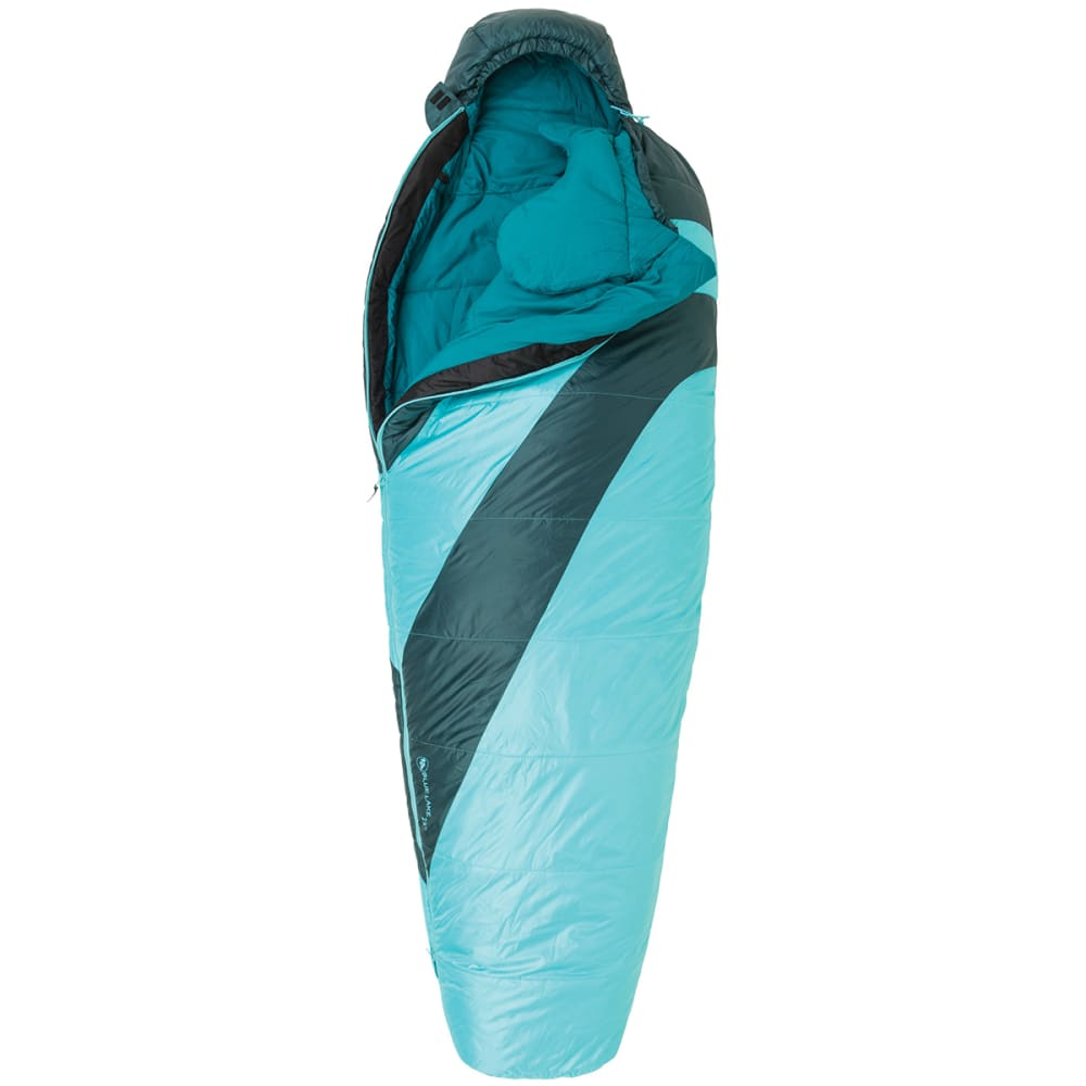 BIG AGNES Women's Blue Lake 25° Sleeping Bag, Petite - TURQUOISE/PINE