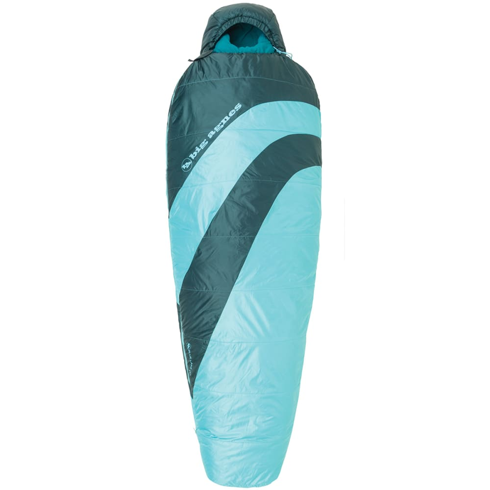 BIG AGNES Women's Blue Lake 25?? Sleeping Bag, Petite - TURQUOISE/PINE