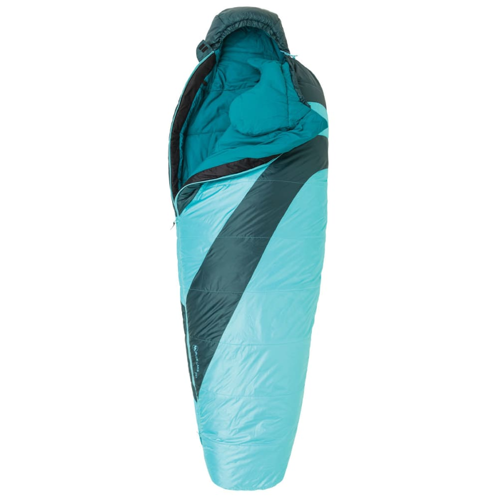 BIG AGNES Women's Blue Lake 25 Regular Sleeping Bag - TURQUOISE/PINE