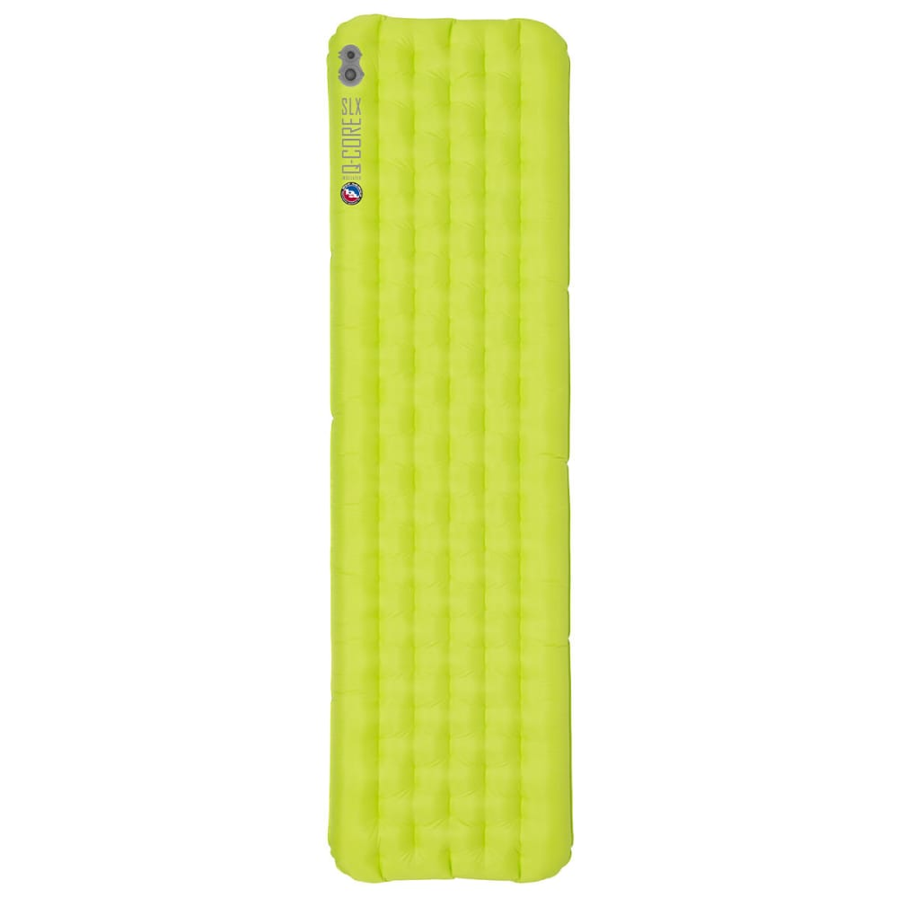 BIG AGNES Q-Core SLX Sleeping Pad, Regular  - LIME GREEN