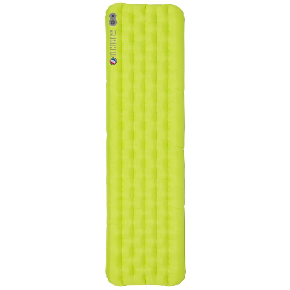 BIG AGNES Q-Core SLX Sleeping Pad, Long  - LIME GREEN