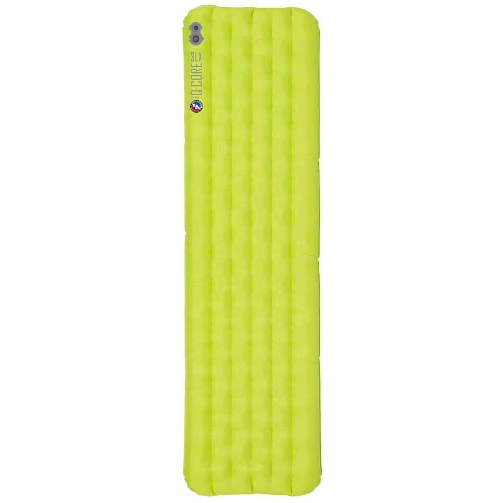 BIG AGNES Q-Core SLX Sleeping Pad, Long - LIME GREEN