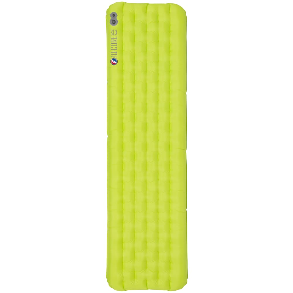 BIG AGNES Q-Core SLX Sleeping Pad, Petite - LIME GREEN