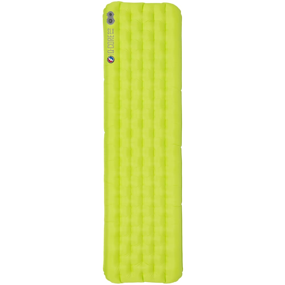 BIG AGNES Q-Core SLX Sleeping Pad, Double Wide - LIME GREEN