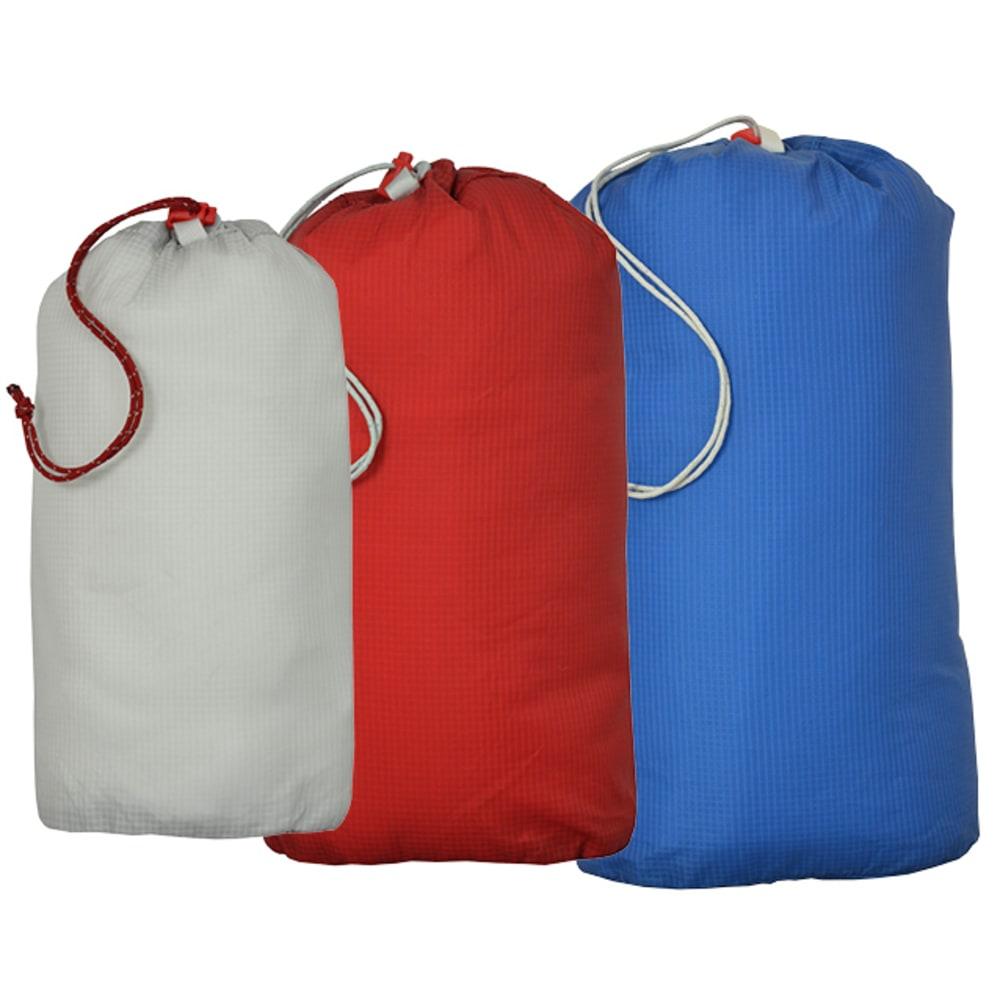 BIG AGNES Essentials Stuff Sacks - LIGHT GREY/RED/BLUE