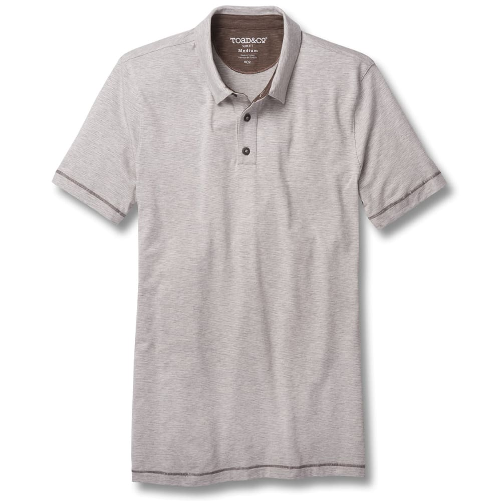 TOAD & CO. Men's Tempo Slim Short-Sleeve Polo - 111-HEATHER GREY