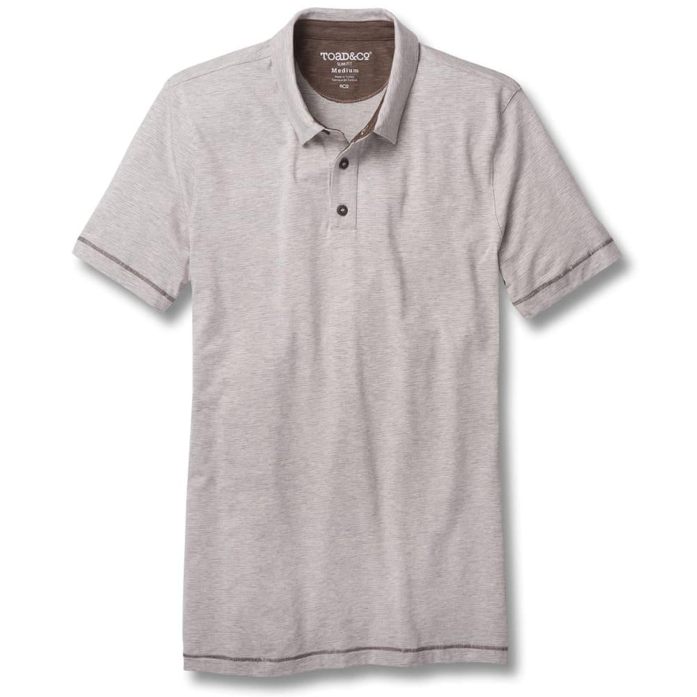 TOAD & CO. Men's Tempo Slim Short-Sleeve Polo - 111-HEATHER GREY