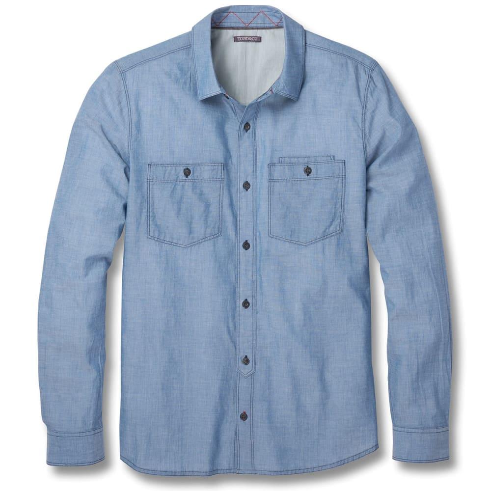 TOAD & CO. Men's Honcho Dos Long-Sleeve Shirt - 402-BRIGHT INDIGO