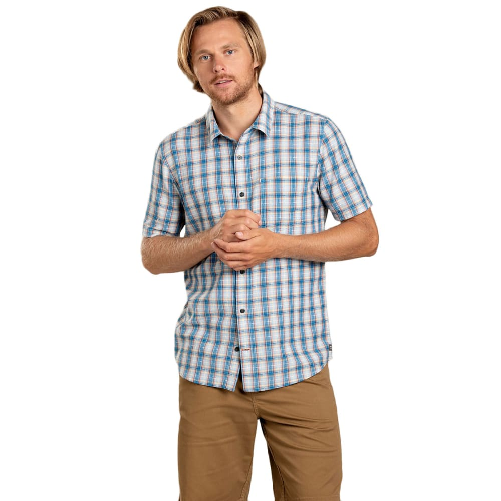 TOAD & CO. Men's Airscape Short-Sleeve Shirt - 457-SNORKEL BLUE