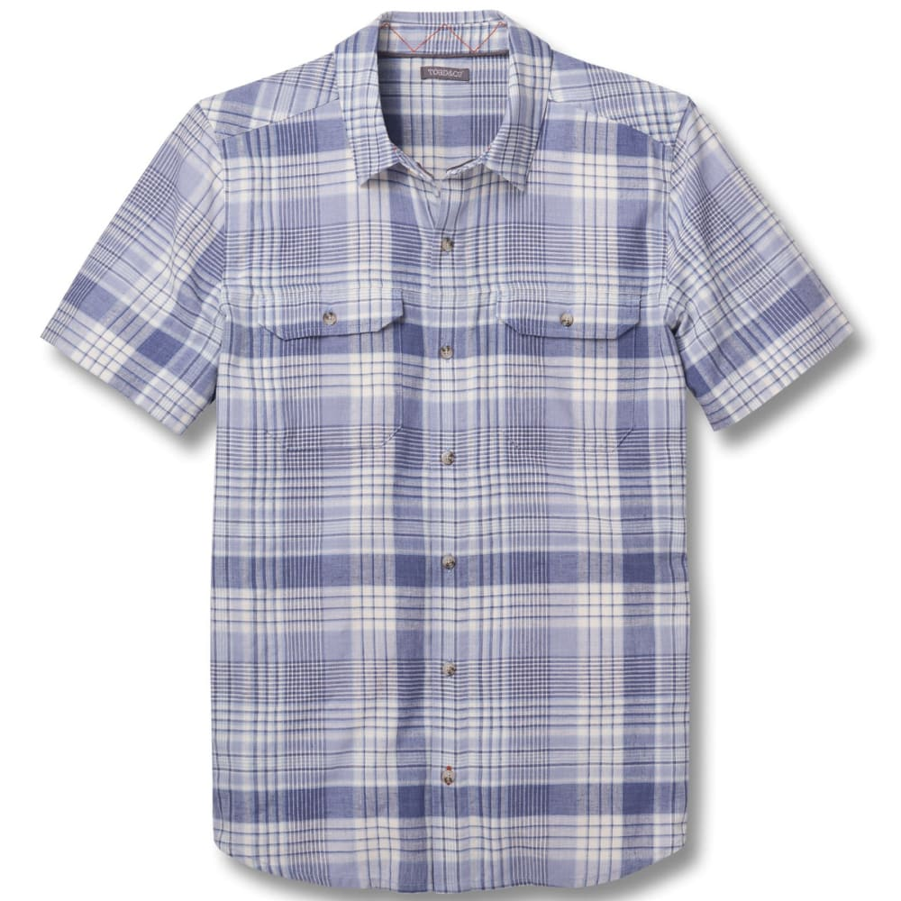 TOAD & CO. Men's Hookline Short-Sleeve Shirt - 462-WEATHERED BLUE