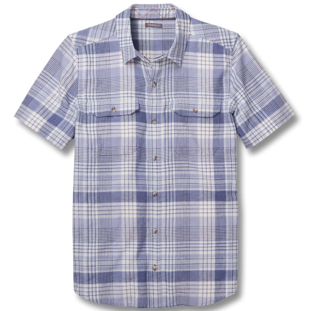 TOAD & CO. Men's Hookline Short-Sleeve Shirt - 462-WEATHERED BLUE