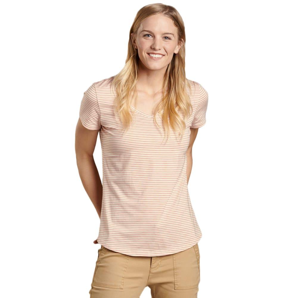 TOAD & CO. Women's Marley Short-Sleeve Tee - 684-PINK SAND STRIPE