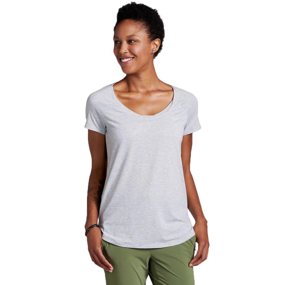 TOAD & CO. Women's Swifty Scoop Neck Short-Sleeve Tee - 026-EGRET STRIPE