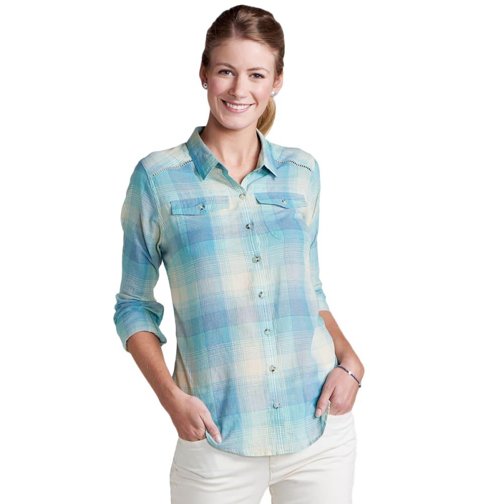 TOAD & CO. Women's Airbrush Deco Long-Sleeve Shirt - 400-AQUIFER