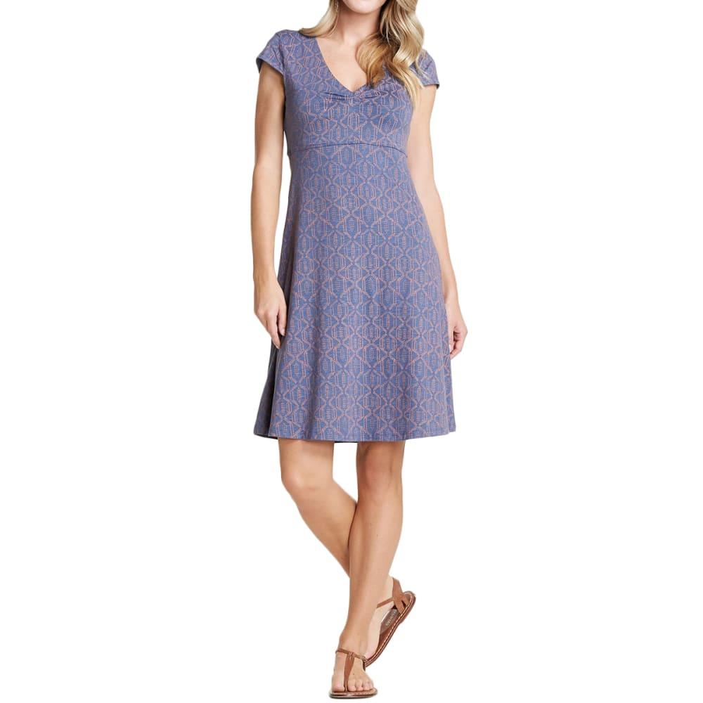 TOAD & CO. Women's Rosemarie Dress - 424-BLUEBERRY BATIK