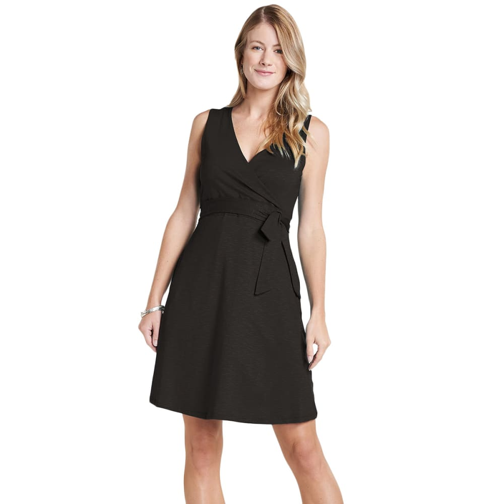 TOAD & CO. Women's Cue Wrap Sleeveless Dress - 100-BLACK