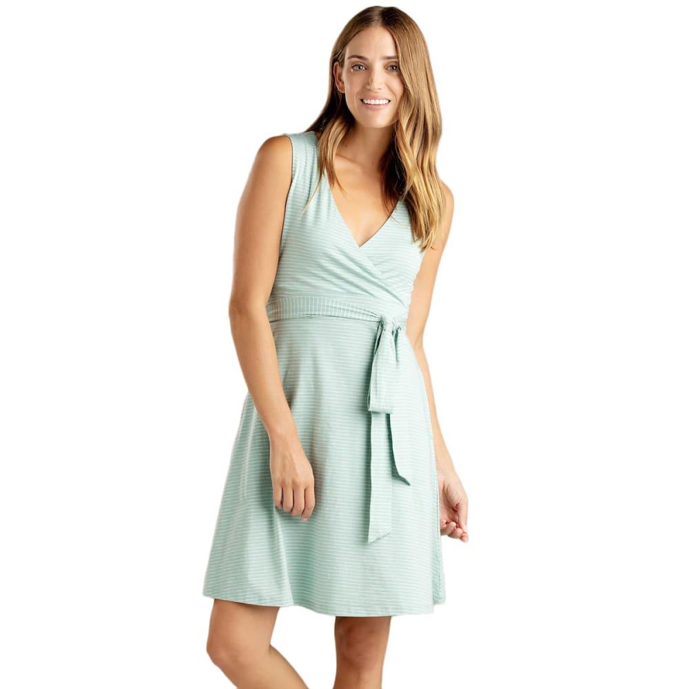 TOAD & CO. Women's Cue Wrap Sleeveless Dress - 996-AQUIFER MINI STR