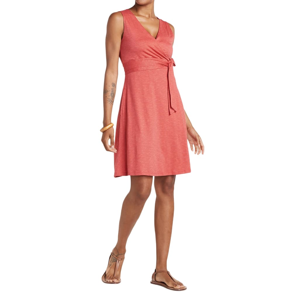 TOAD & CO. Women's Cue Wrap Sleeveless Dress - 659-RHUBARB