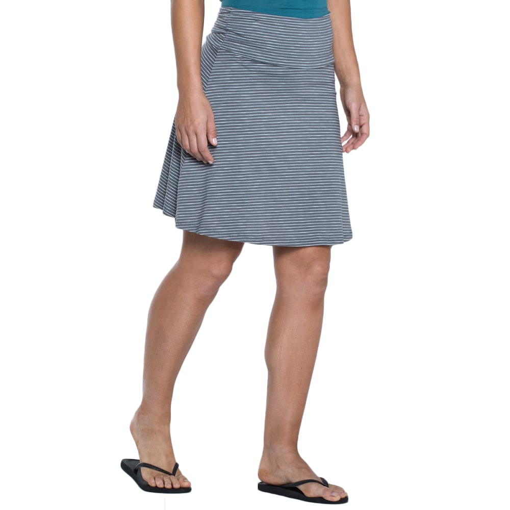 TOAD & CO. Women's Chaka Skirt - 015-SMOKE STRIPE
