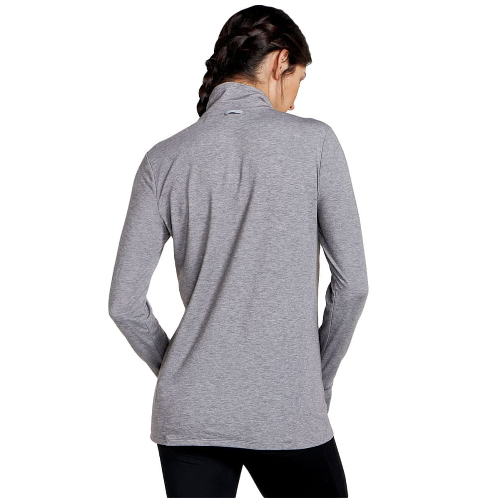 TOAD & CO. Women's Debug Swifty Quarter Zip Shirt - 111-HEATHER GREY