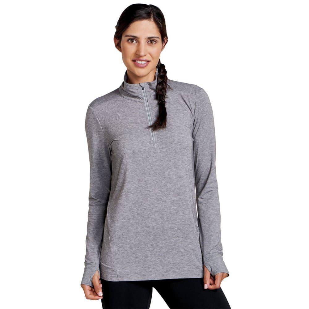 TOAD & CO. Women's Debug Swifty Quarter Zip Shirt - 111-HEATHER GREY