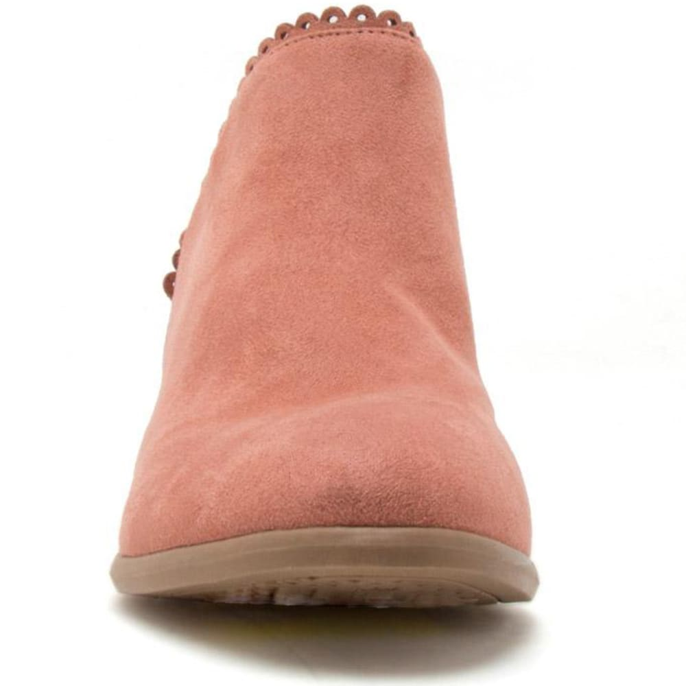 QUPID Women's Weekend-08 Scalloped Booties - DUSTY BLUSH