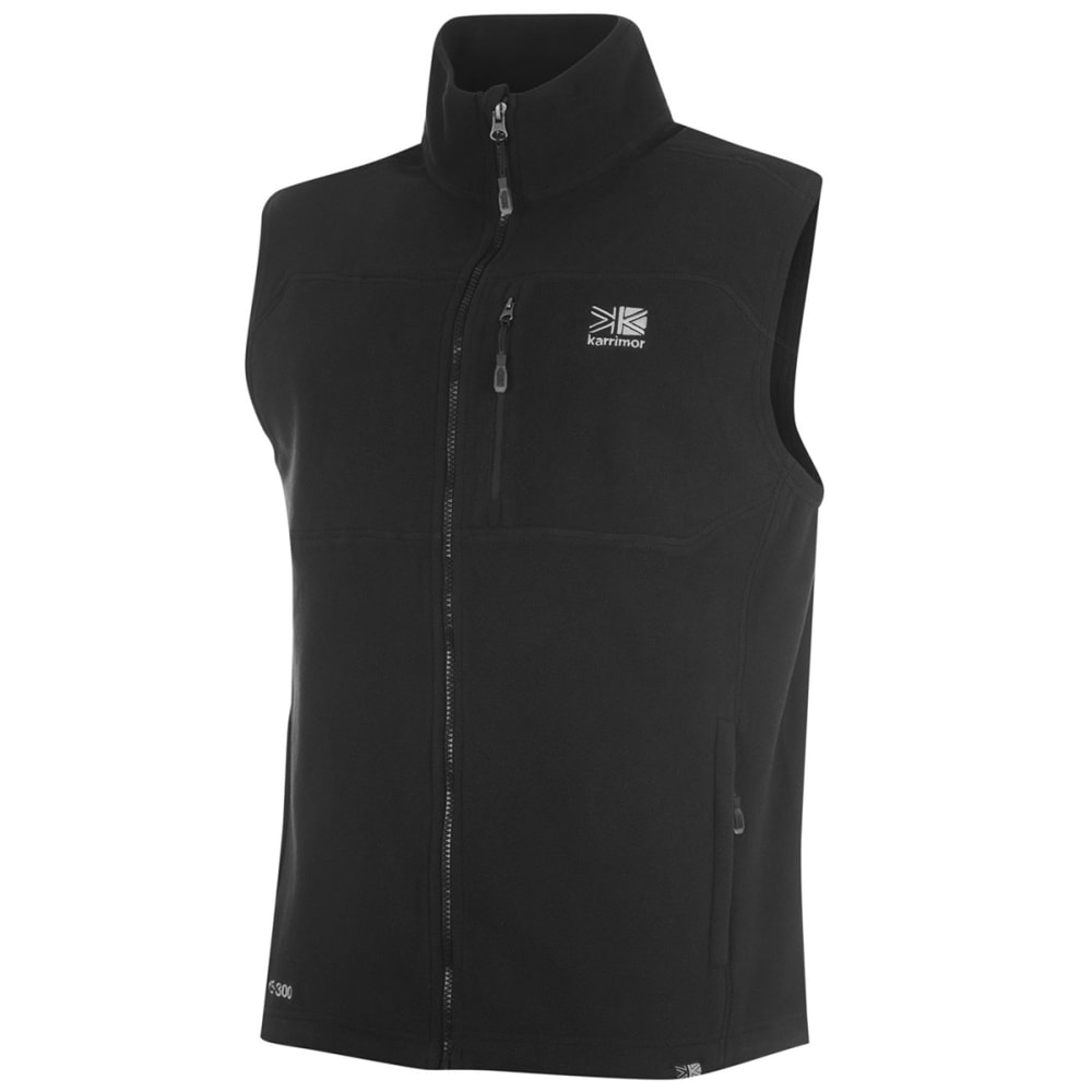 KARRIMOR Men's Fleece Gilet Vest - BLACK