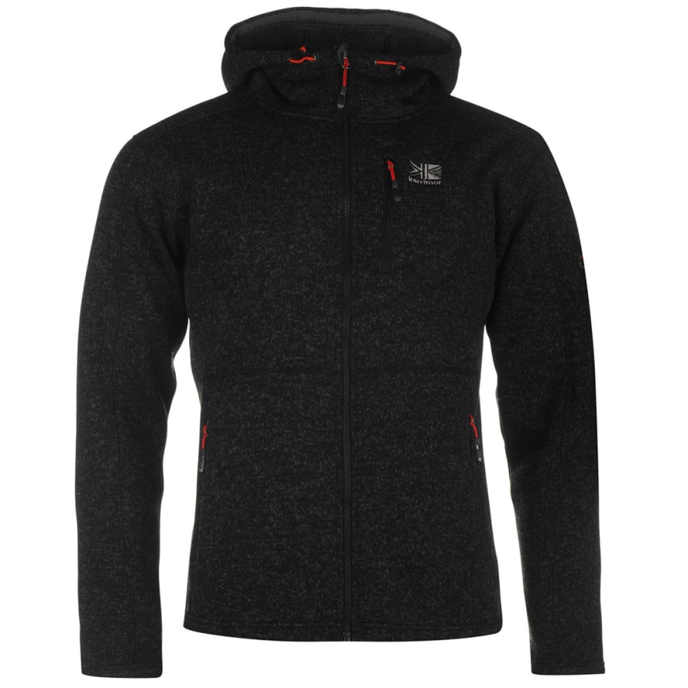 KARRIMOR Men's Long-Sleeve Hoodie - BLACK MARL