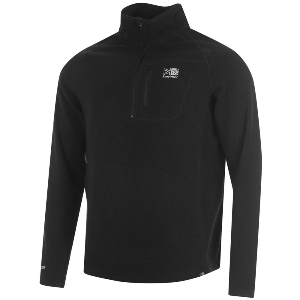 KARRIMOR Men's KS200 Microfleece 1/4 Zip Pullover - BLACK