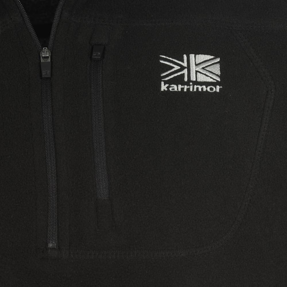 KARRIMOR Men's KS200 Microfleece ¼-Zip Pullover - BLACK