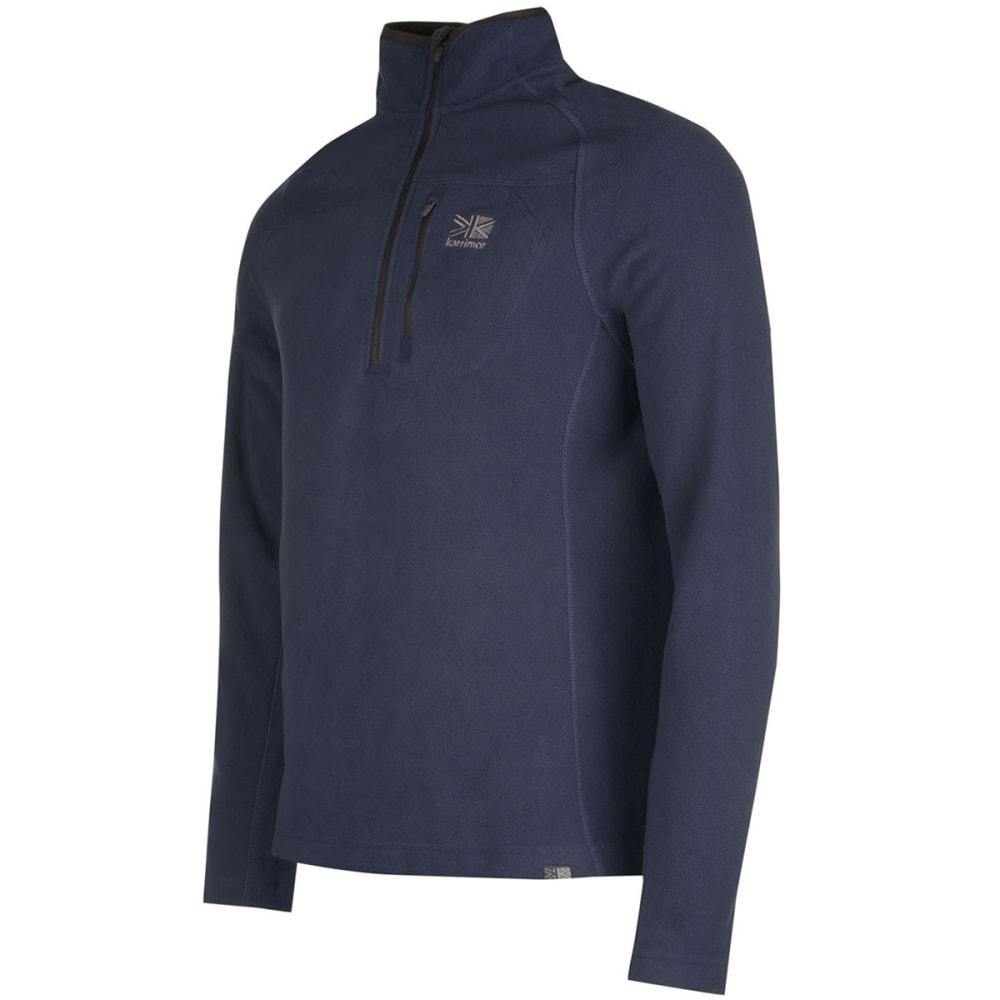 KARRIMOR Men's KS200 Microfleece 1/4 Zip Pullover - NAVY