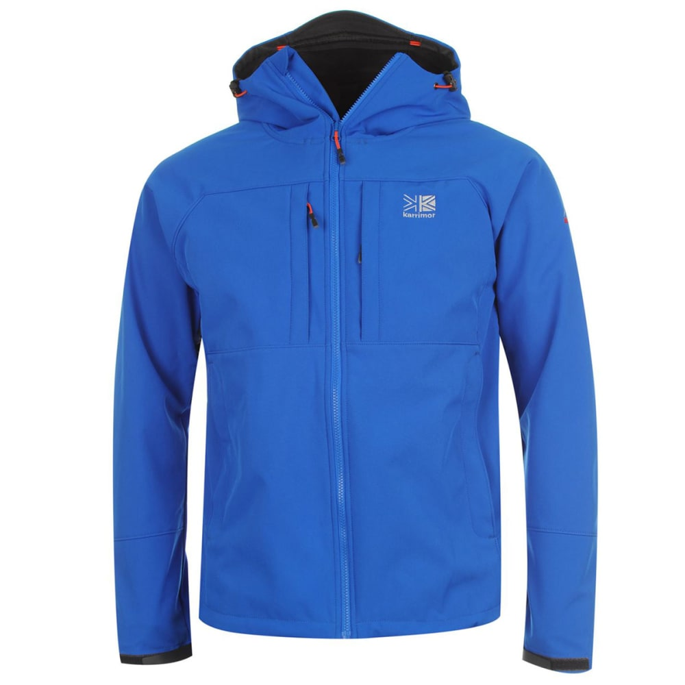 KARRIMOR Men's Alpiniste Soft Shell Jacket - BLUE/ORANGE