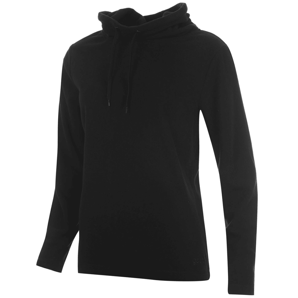 GELERT Women's Cowl Neck Fleece Pullover - BLACK